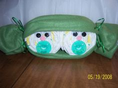 Two Peas In A Pod Diaper Cake Baby Gift Twins LQQK by FunkyMonky, $15.00