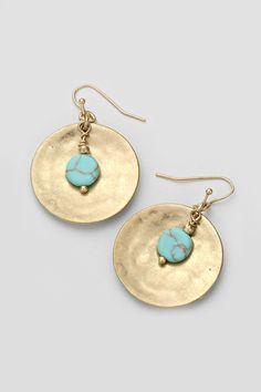 Golden Basin Earrings on Emma Stine Limited
