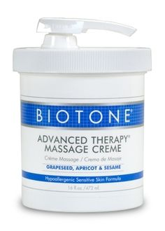 Save on Biotone® Advanced Therapy® Massage Creme 16 oz and other Physical Therapy, Rehabilitation, and Fitness wholesale supplies and equipment from GNR Health Systems, owned and operated by a Physical Therapist since Massage Lotion, Apricot Oil, Grape Seed Extract, Vegetable Glycerin, Light Texture, Massage Therapy, Sensitive Skin, Moisturizer, How To Apply