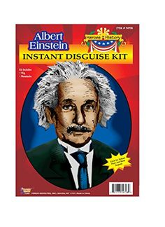 Albert Einstein - Heroes in History Kit includes Albert Einstein Wig and Mustache. This Albert Einstein accessory kit can be used by kids or adults.  sc 1 st  Pinterest & Halloween Boysu0027 Abraham Lincoln Costume Large (12-14) Size: L (12 ...