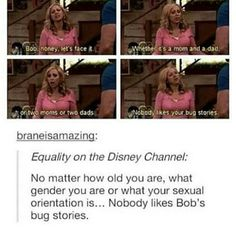 i loved his bug stories wbu Liv Tags lgbt gay lesbian bisexual asexual pansexual equal love united together bi les transgender boys girls nonbinary all wearewhoweare people freedom chances yourself questioning queer pride romantic sexuality loveislove Lgbt Memes, Fandoms, Disney Memes, Disney Pixar, Punk Disney, Disney Facts, Disney Animation, Faith In Humanity, My Guy