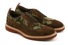 abcm2 5090velour043 man shoe laced suede and canvas camouflage micro-
