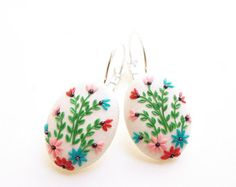 polymer clay embroidery – Etsy