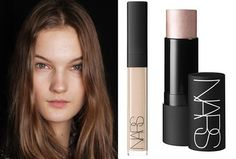 The No makeup look, Makeup  Nars Radiant Creamy concealer for a natural glow and Nars Copacabana Multiple for contouring and highlighting