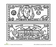 1000 images about money on pinterest coins play money for Play money coloring pages