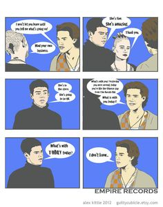 EMPIRE RECORDS What's With Today Today Mini Comic Print