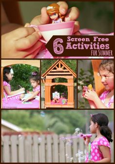 6 Screen Free Activities for Summer with Kids from The Educators' Spin On It
