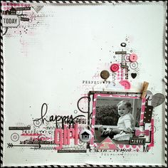 Happy Girl #layout by lescrapananat #scrapbooking