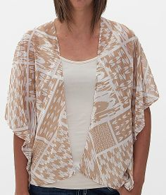 Silver Gate All-Over Print Cardigan at Buckle.com