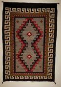 "Crystal Navajo Rug  50"" x 72""  Circa 1920"