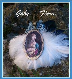 Gaby Féerie #Designer #Français #créateur #bijoux #originaux #modèle #unique Collier la Dame à l'hermine Léonardo Da Vinci  =========================  La Boutique => http://www.alittlemarket.com/boutique/gaby_feerie-132444.html