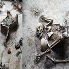 Arqueólogos encontram esqueleto de mãe tentando proteger seu filho depois de um terremoto devastador