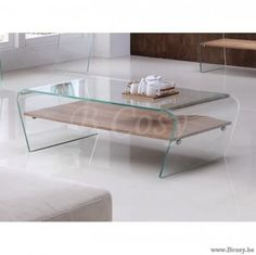 "PR Interiors Torino Salontafel 120 in gebogen glas en Houten legplank<span style=""font-size: 0.01pt;""> PR-Rogiers-Home-Interiors-CSW/001 salontafel-koffietafel-table-de-salon-table-basse-tables-de-salon-tables-basses-table-salon-kof </span>"