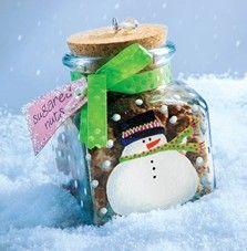 Craft Ideas : DIY Snowman jar with Sugared Nuts Recipe