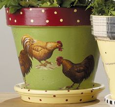 I want to spruce up all my old flower pots in the garage now.