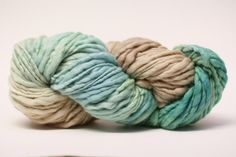 Thick and Thin Merino Yarn Slub Hand Dyed TTS by 1AZColorworks, $12.50