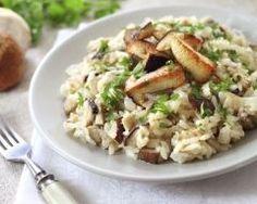 Risotto poulet champignons (facile, rapide) - Une recette CuisineAZ