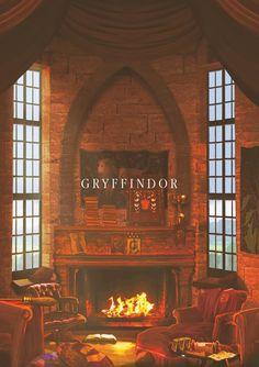 Hogwarts Common Rooms: Gryffindor #harrypotter