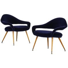 Pair of Gastone Rinaldi Lounge Chairs Model DU 55 P for Rima ca.1954