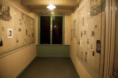 SET DRESSING - Real photo of Anne Frank House in Amsterdam. [The photos she hung on the walls while in hiding are still up, just protected with plexiglas. Amsterdam Sights, Amsterdam Houses, Amsterdam Netherlands, Bergen, Places Ive Been, Places To Go, Museum Displays, Great Stories, Historical Sites