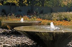 contemporary fountain - bonick landscaping, dallas, tx