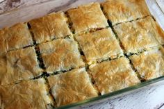 This Spinach and Feta Pie it's exactly one of such dishes you can serve for any meal of the day you like. It's super easy to make and so tasty, you'll want to keep this recipe on hand for repeated use. Greek Recipes, Pie Recipes, Dinner Recipes, Cooking Recipes, Yummy Recipes, Holiday Recipes, Chicken Recipes, Vegetable Dishes, Breakfast