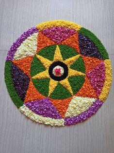 Rangoli Designs Flower, Flower Rangoli, Pookalam Design, Birthday Balloon Decorations, Quotes For Whatsapp, Custom Embroidery, Diwali, Kerala, Balloons