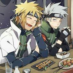 Minato e Kakashi Naruto Kakashi, Anime Naruto, Naruto Shippuden Anime, Me Anime, Anime Life, Otaku Anime, Manga Anime, Boruto, Arte Do Kawaii
