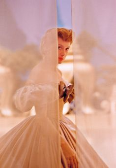 Deborah Kerr on the set of 'The King and I', 1956. Photo by co-star Yul Brynner.