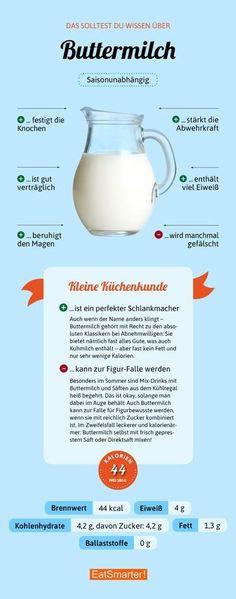 Das solltest du über Buttermilch wissen | eatsmarter.de #buttermilch #infografik #ernährung
