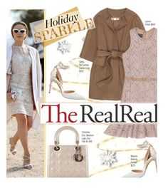 """Holiday Sparkle With The RealReal: Contest Entry"" by edenslove ❤ liked on Polyvore featuring STELLA McCARTNEY, Lanvin, Christian Dior and Manolo Blahnik"