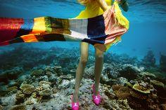 Marie-Claire France Underwater fashion photography ©peter de mulder