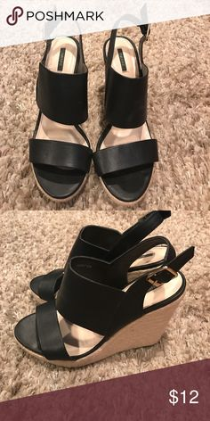Shoes 👠 Only wore once Forever 21 Shoes Wedges