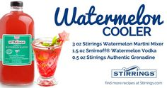Looking for a cocktail (or mocktail) everyone will enjoy? This one will not disappoint with our all natural watermelon mixer! Need some Stirrings? Use code: STIR20 for 20% off plus free shipping orders 25+ #StirringsPromo #StirringsInsider #4thofJuly Watermelon Martini, Watermelon Cooler, Allure Flooring, Brand Campaign, Heavenly, Mixer, Food And Drink, Cocktails, Treats