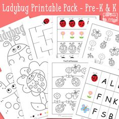 Ladybug Printables for Kids - Preschool Kindergarten