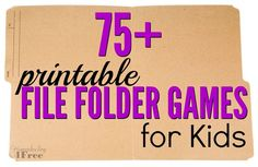 File folder games are such a fun and easy way to practice and review concepts that you have covered in your homeschool and we've compiled a list of over 75 of them for you to use!