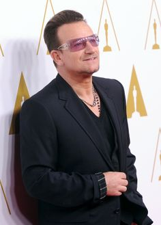 Bono at the Academy Awards Oscar Nominee Luncheon on 10 February 2014