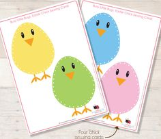 EASTER CHICK SEWING CARDS