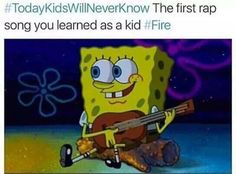 Still know this song by heart<< Same. And I didn't even watch SpongeBob as a kid. Spongebob Memes, Spongebob Squarepants, Right In The Childhood, Childhood Memories, G Song, Campfire Songs, Funny Memes, Hilarious, Funny Shit