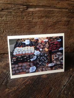 Chocolate at Mercat de La Boqueria in Spain 4x6 by BlueDoorsDesign, $2.95