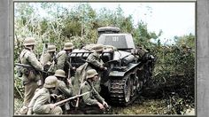 3rd Reich troops Panzergrenadier of the 6.Panzer Division use the cover of a Panzerkampfwagen 35(t) during Operation Barbarossa