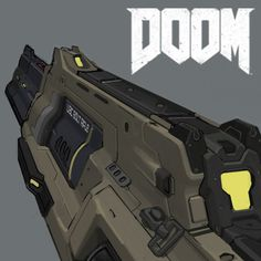 This is the Doom 2016 Repeater Rifle.  I was asked to concept the front half of an older doom gun.  The backend of the rifle was designed by Jon Lane.  The current version was modeled by Timothee Yeramian.  You can find his work at: https://www.artstation http://riflescopescenter.com/category/bushnell-riflescope-reviews/