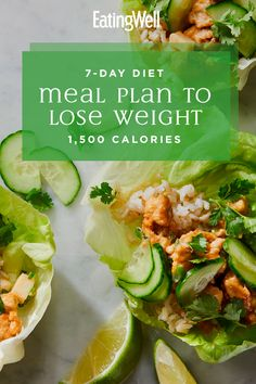 Lose weight, eat well and feel great with this easy weight loss diet plan. This simple meal plan is specially tailored to help you feel energized and satisfied while cutting calories so you can lose a healthy 1 to 2 pounds per week. 1500 Calorie Meal Plan, 500 Calorie Meals, Calorie Diet, Diet Meal Plans To Lose Weight, Weight Loss Meal Plan, Diet Inspiration, Calories, Best Diets, Diet And Nutrition