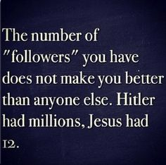 The number of follows doesn't matter