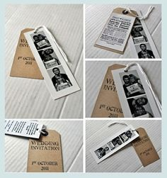 Wedding Invitations DIY diy-wedding-invitations. I really like the idea behind this but not this exactly