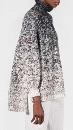 Knitwear Fashion, Knit Fashion, Pull Gris, Knitting Designs, Sweater Weather, Crochet Clothes, Pulls, Knitting Patterns, Crochet Patterns