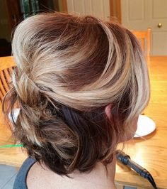 31 half updo with a bouffant for shorter hair