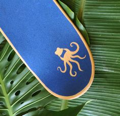 Party Squids Ink Blot Illustration on Skateboard by Lani Mathis and Michael Ayers of GreenSpaceGoods