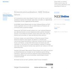 Die renommierte Schweizer Tageszeitung Neue Zürcher Zeitung (NZZ) hat bewiesen, wie man in einer Krise die Ruhe bewahrt und offen sowie transparent kommuniziert. Ein gutes Beispiel für die Krisenkommunikation einer Marke im Social Web.
