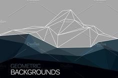 Geometric mountain with triangles by Librebird on @creativemarket